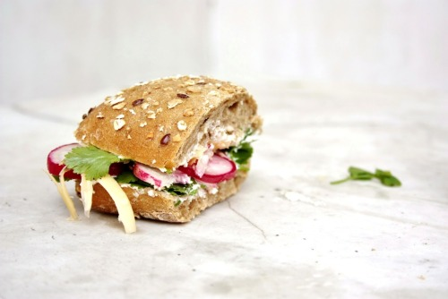 prettybalanced:  Spring Vegetable Sandwich