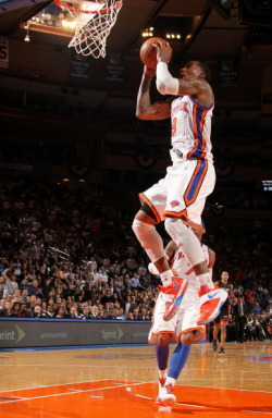 Thought I saw KDIV's on JR. What a great game by the Knicks to keep the playoff basketball series going!