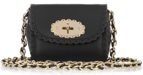 Cookie mini leather shoulder bag. By Mulberry.