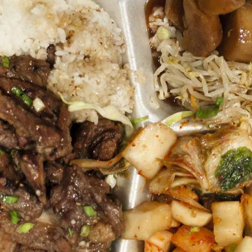 Kalbi Beef Combo Plate - too expensive for what it is