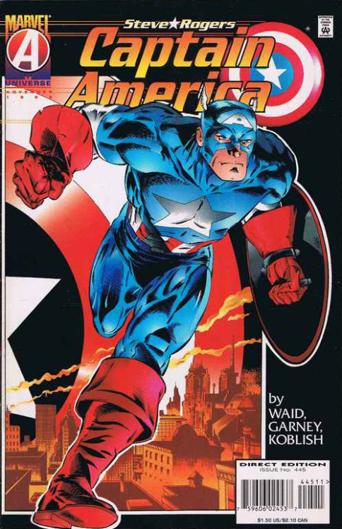 Captain America #445, November 1995, written by Mark Waid, penciled by Ron Garney