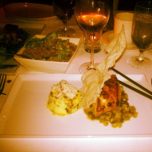 Coconut & Pepper-Frosted Chilean Sea Bass + #WindowSeat #views  (Taken with Instagram at Asia De Cuba)