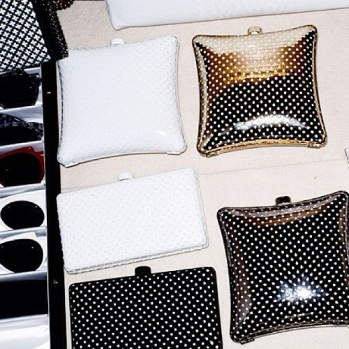 Polkadots #StellaMccartney purses! #fashion  (Taken with instagram)