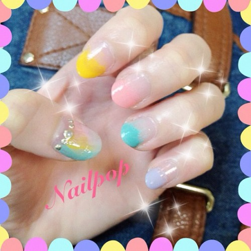 Pastel x gradation #nailart #mycreation #pastel #kawaii (Taken with instagram)