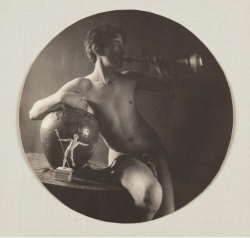 Nude with Trumpet, taken by Fred Holland Day (1897).