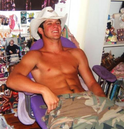 rawandripe:  Happy cowboy.