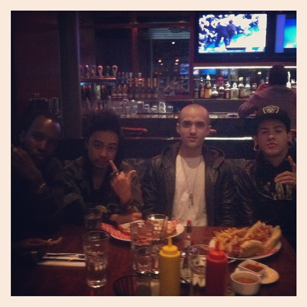 Late night diner with @theairplaneboys & @illangelo (Taken with instagram)