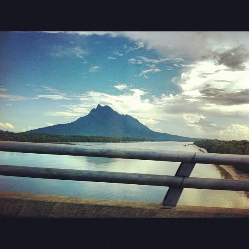 Gunung Santubong with Sungai Santubong~ (Taken with instagram)