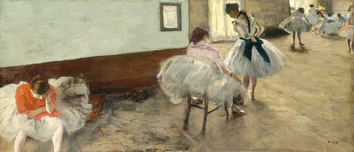 The Dance Lesson Edgar Degas