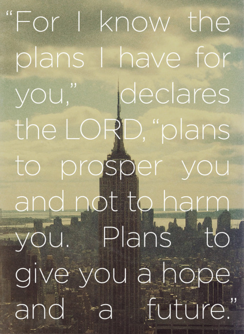 "spiritualinspiration:  No matter what may be happening today, God has good things in store for your future! It may not be easy to see now, but God has already lined up a new beginning, new friendships and new opportunities for you.  Maybe you've experienced some setbacks, but don't make the mistake of expecting the same for your future. Instead, accept God's good plan for your life by declaring His truth. As believers, our attitude should be, ""Even though the economy is down, I'm not worried. I know God is going before me, and He has promised He will make rivers in the desert."" Or, ""The medical report may not look good, but I have another report that says God is restoring health unto me. I believe God has already released healing, health and victory in my future."" Or, you may have a child who is not on the right course. In the natural, it seems impossible. But our report should be, ""I know God can do the impossible!""  Today, be encouraged and don't give up on your tomorrows. Accept the good plan God has for you—a plan filled with hope, purpose, blessing and increase in every area of your life!"