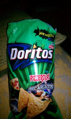 My mom brought me pizza flavored Doritos from the motherland.
