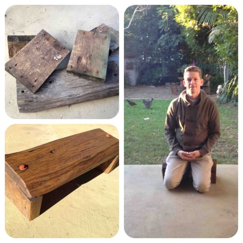 stevealbion:  Made this meditation stool today with an hard wood swing seat