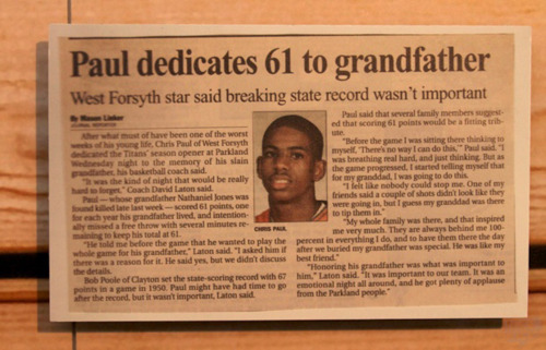 Throwback dedicated to the best point guard in the NBA….. Chris Paul.