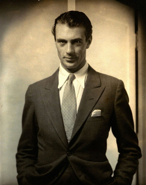 "the-asphalt-jungle:  Happy Birthday, Gary Cooper - May 7th, 1901 ""To get folks to like you, I figured you had to sort of be their ideal. I don`t mean a handsome knight riding a white horse, but a fellow who answered the description of a right guy."""