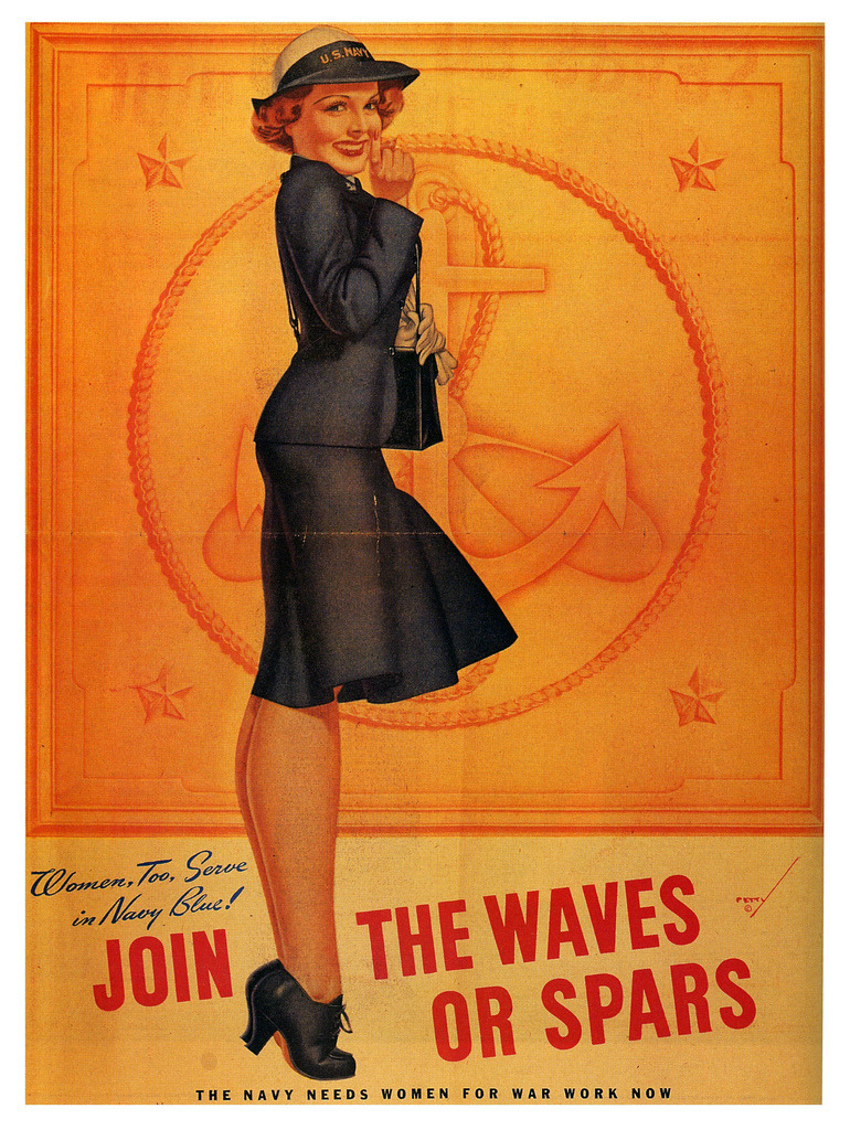 mudwerks:  Join the Waves or Spars (by paul.malon)  1942; illustration by George Petty.