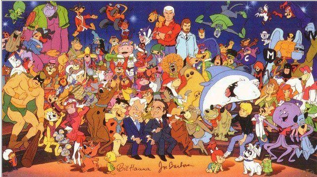 cryptofwrestling:  William Hanna & Joseph Barbera with the gang..