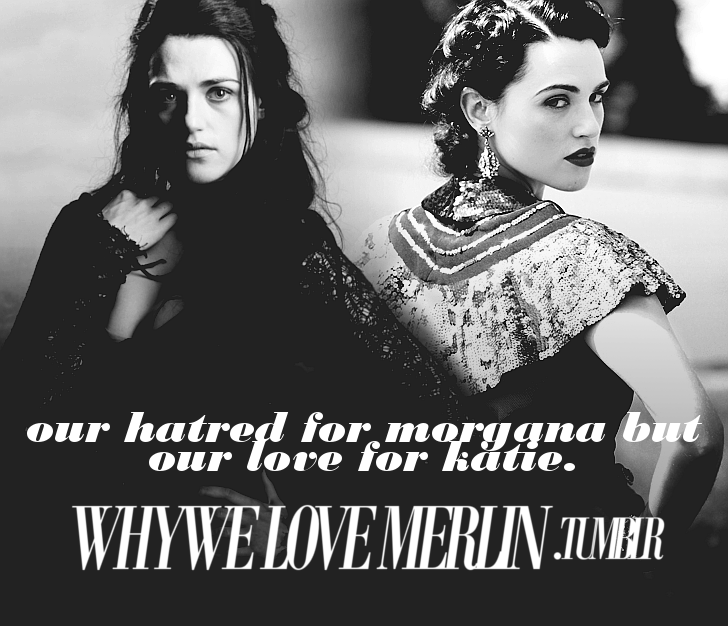 submitted by couragestrengthmagic  What is this?! I LOVE Katie and Morgana equally! How could anyone not love Morgana?! She's such a BAMF and looks epic whilst being one! Fuck yeah!