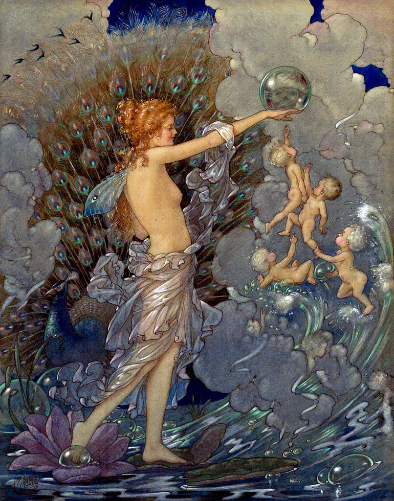 Harold Gaze ~ Ocean Fairy ~ 1919 ~ via