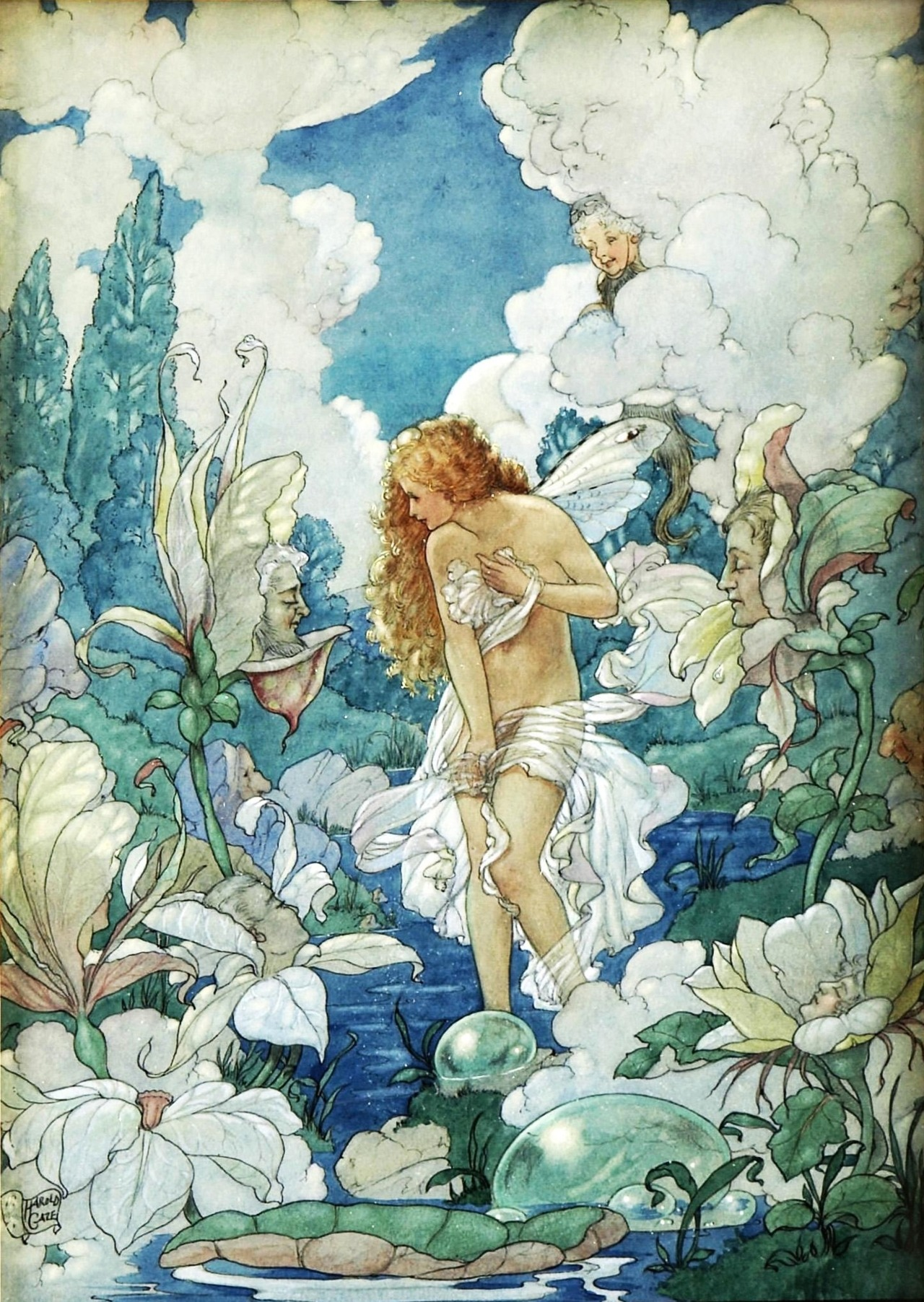 Harold Gaze ~ Water Fairy ~ Illustration for a Poem of Love ~ via