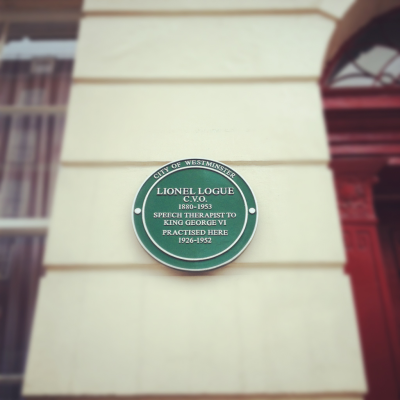 A nice find on yesterday's apartment hunt.   Lionel Logue: Do you know any jokes? King George VI: …Timing isn't my strong suit.