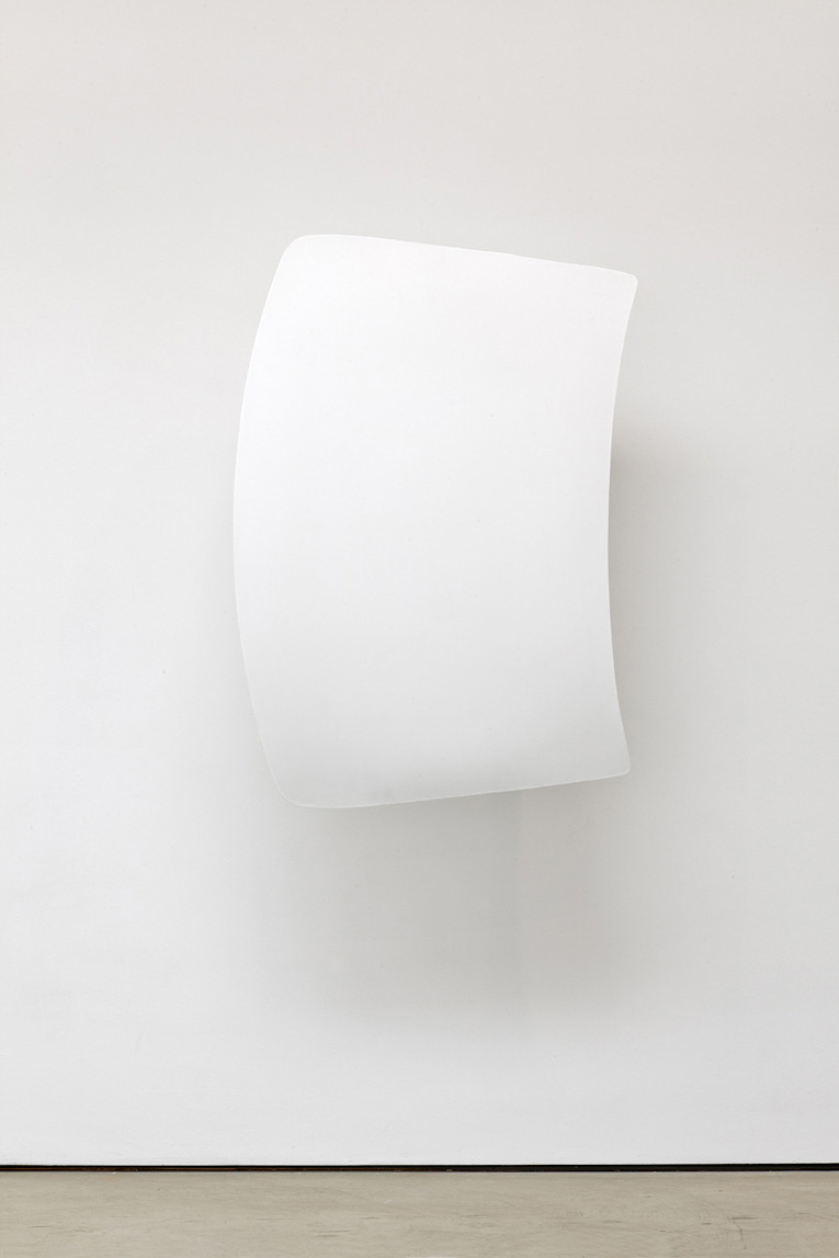 Shield#01, 2012, Acrylic resin, iron, bike hooks (130 × 92 × 40 cm)