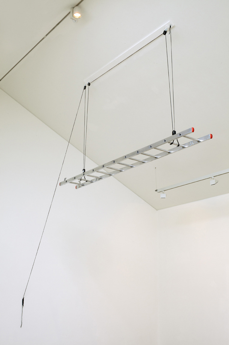 West End, 2012, Aluminium, cord (Dimensions variable)