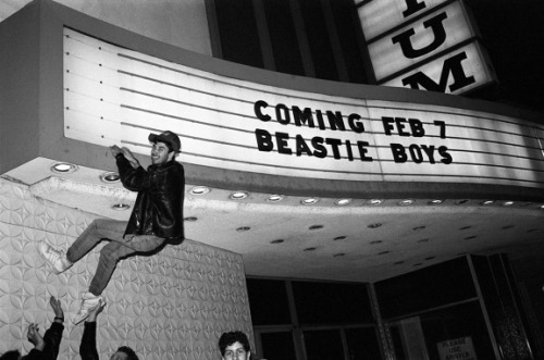 "Adam Yauch aka MCA Climbing a Cinema Marquee With the Help of the Other Beastie Boys ""I shouldn't have logged on to the internet today…"" that was my initial response when reading the news about Adam Yauch last Friday. The Beastie Boys have been around for as long as I can remember and even though they've matured over the years, they always remained young in my eyes. These are the reasons why MCA's death came as such a shock to me."