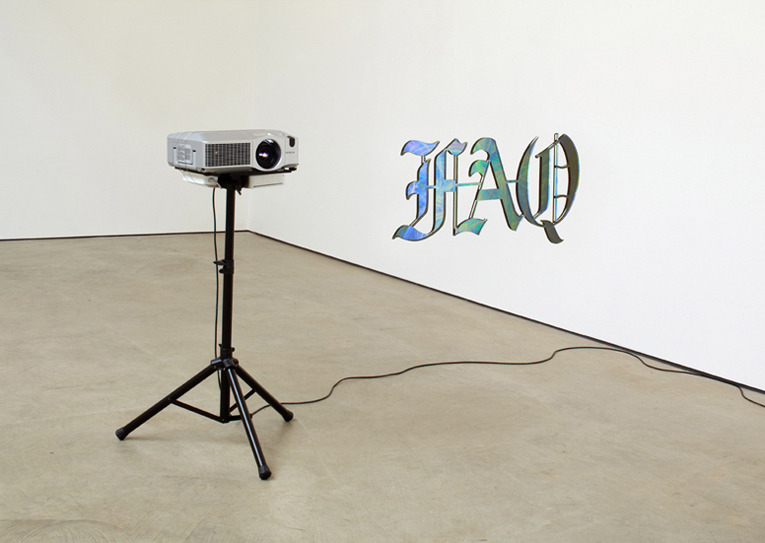 FAQ, 2012, Plexiglas, digital projection