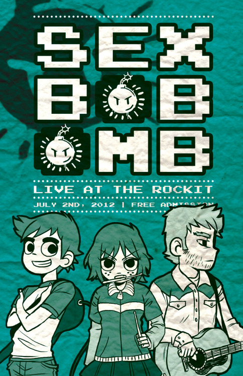 guttyworks:  Scott Pilgrim poster for summer cons! Re-uploaded because I forgot to change to RGB…
