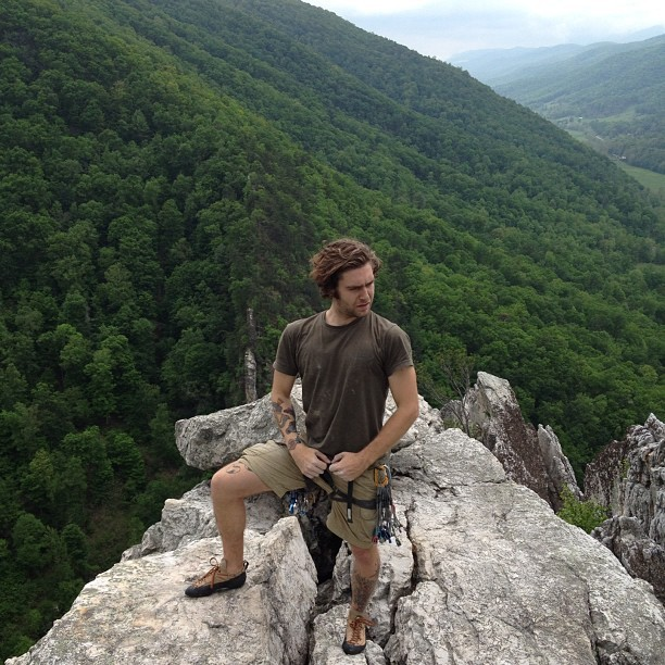 Tough guy pose. Yeah Baby! (Taken with Instagram at Seneca Rocks)