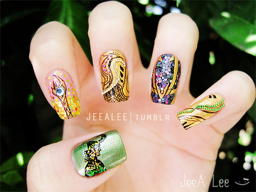 jeealee:  Loki Nails