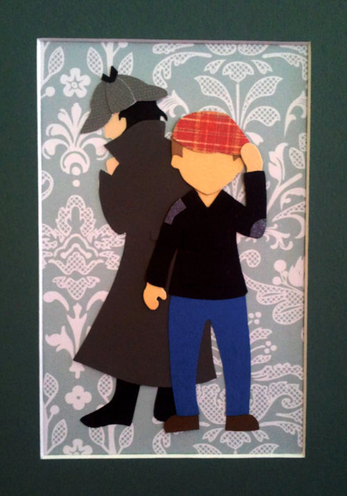 Hatman and Robin papercut collage by Andreaoftheland on Etsy