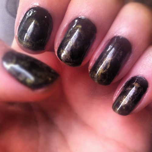 On The Dark Side- Free Hand Marbling Nails  I used Look Beauty Nail Pops in Shades- Kimono & Fetish -£5 each, overlapping each other whilst wet… It's so much fun and it's my NEW favourite thing to do at the moment :)    Karla X