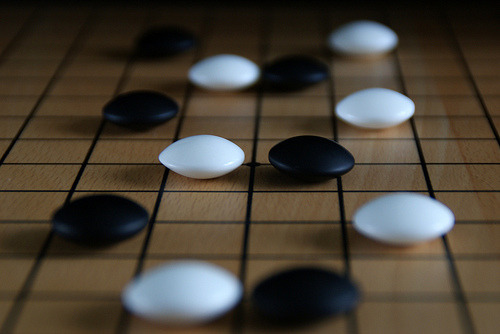Anybody for a game of Weiqi? (by rach0611) Go (weiqi in Chinese, igo in Japanese, baduk in Korean), is an ancient board game for two players that originated in China more than 2,000 years ago. The game is noted for being rich in strategy despite its relatively simple rules.
