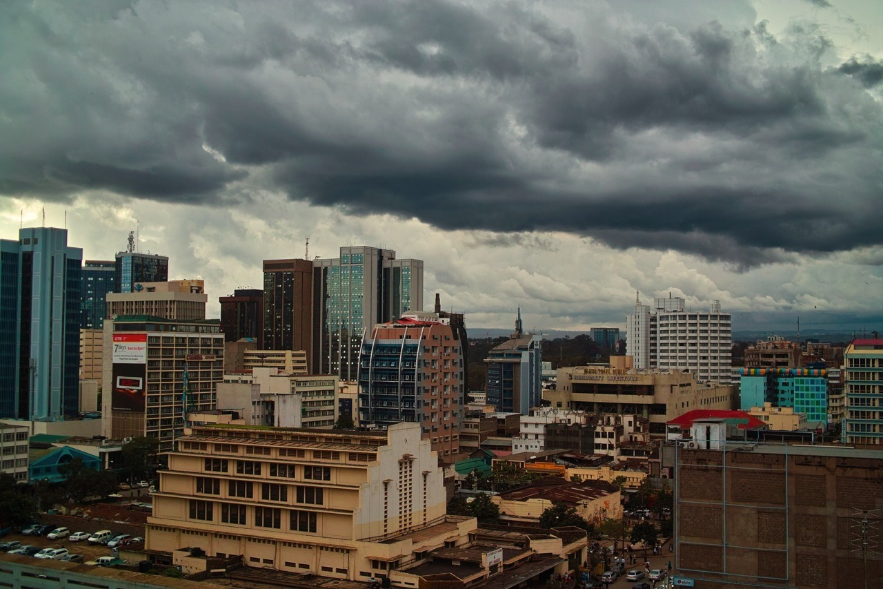 dailystruggle:  Downtown Nairobi (City market) April 2012- the cloud formations at this time of the year - the rainy season are quite something.   sometimes I wonder why people don't recognize its beauty, but tao is legit