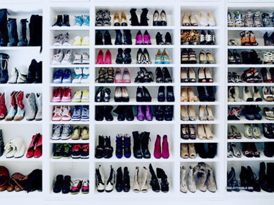 "would die to have ""THAT"" many shoes  D:"
