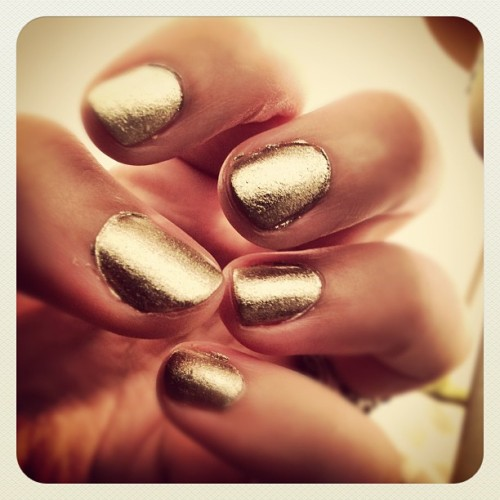 Metallic nails are fab!