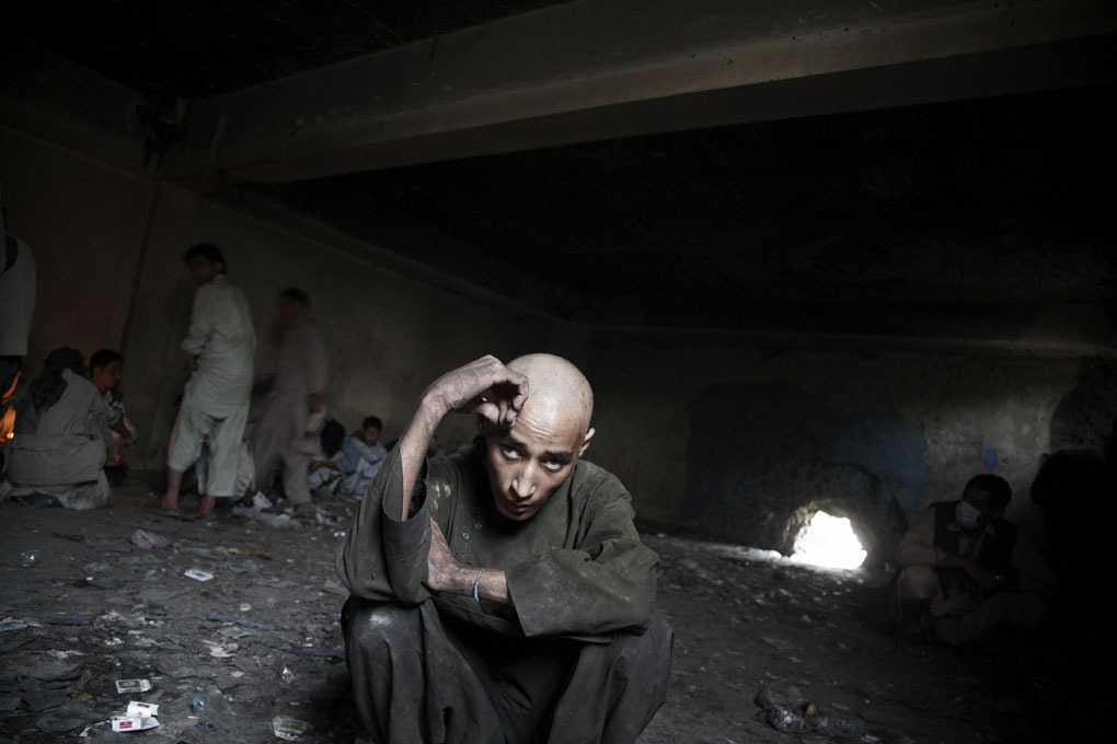 Mussa Ahmadi, an 18-year-old heroin addict in Kabul. Photo: Sandra Calligaro The war in Afghanistan is not over. Help us tell the story. Fund our Kickstarter.