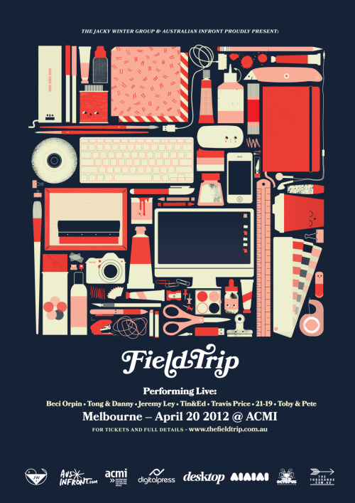 thingsorganizedneatly:  SUBMISSION: Field Trip poster, by Beci Orpin for Jacky Winter Group