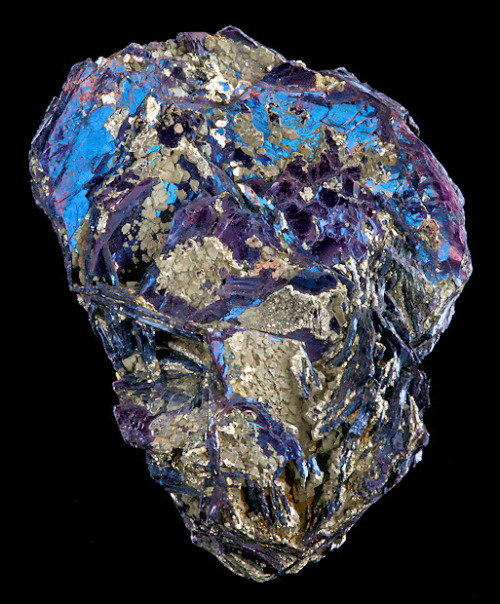 mineralia:  Covellite with Pyrite from Italy by Exceptional Minerals
