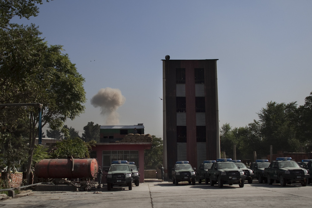 Plume from a suicide bombing outside the International Security Assistance Force Headquarters in Kabul. Photo: Jonathan Saruk The war in Afghanistan is not over. Help us tell the story. Fund our Kickstarter.
