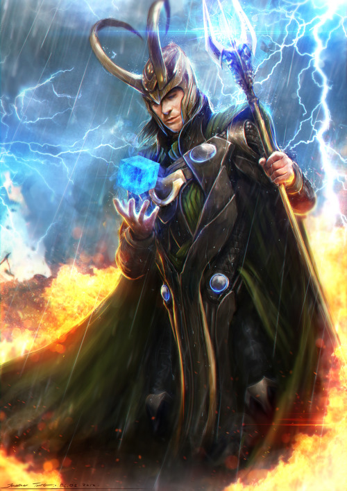 bloodhaven:  Loki -Avengers by Johnson Ting