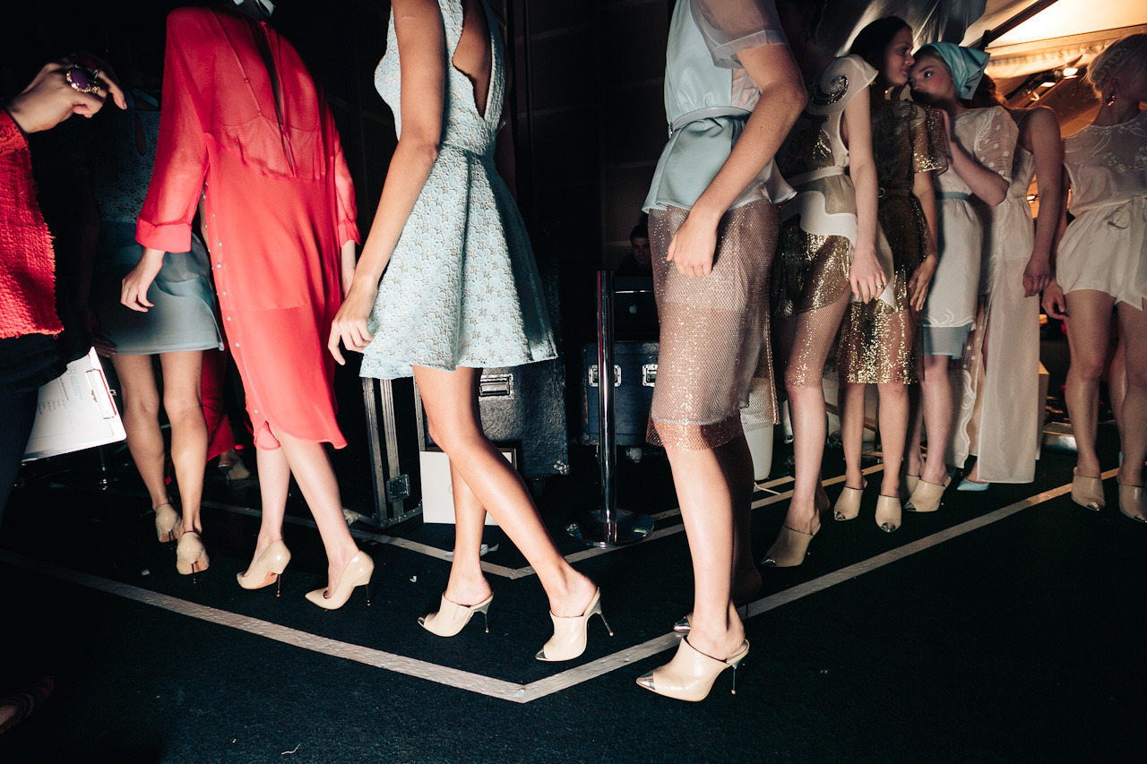 Alice McCall backstage legs