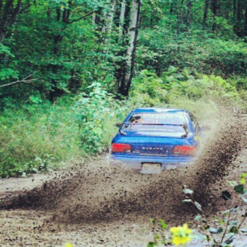 Subaru ripping it up at the ojibwe forest rally 2010 #coursemarshal #rallyamerica #rallyracing #rallycar #Subaru  (Taken with instagram)