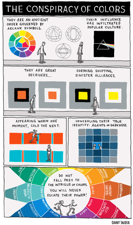 ianbrooks:  The Conspiracy of Colors by Grant Snider / incidental comics  Artist: tumblr / website