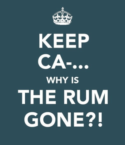 chroniclesofdave:  The Rum. It's always gone.