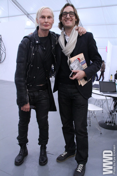 womensweardaily:  They Are Wearing: Frieze Frame Frieze New York on Randall's Island.  Fucking creepy men, awesome outfits.