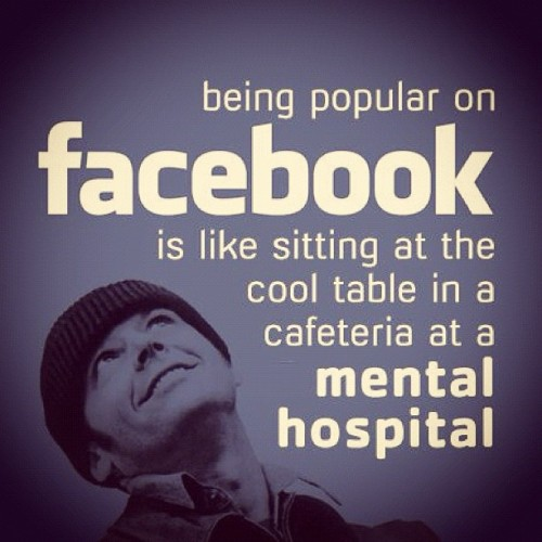 Being popular on Facebook is like… (Taken with instagram)