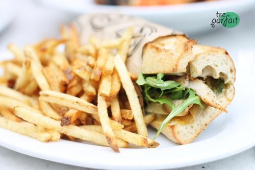 in-my-mouth:  Grilled Chicken Sandwich and Fries