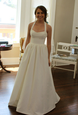 My wedding gown! Can't wait for the wedding day though, when my hair and makeup are all done. Uploading two more (of the side and back)…